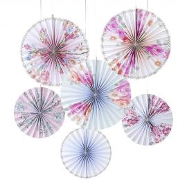 Rosaces papier floral romance