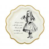 Assiettes gravures So Alice