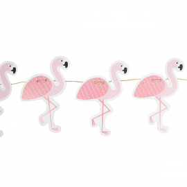 Guirlande flamant rose