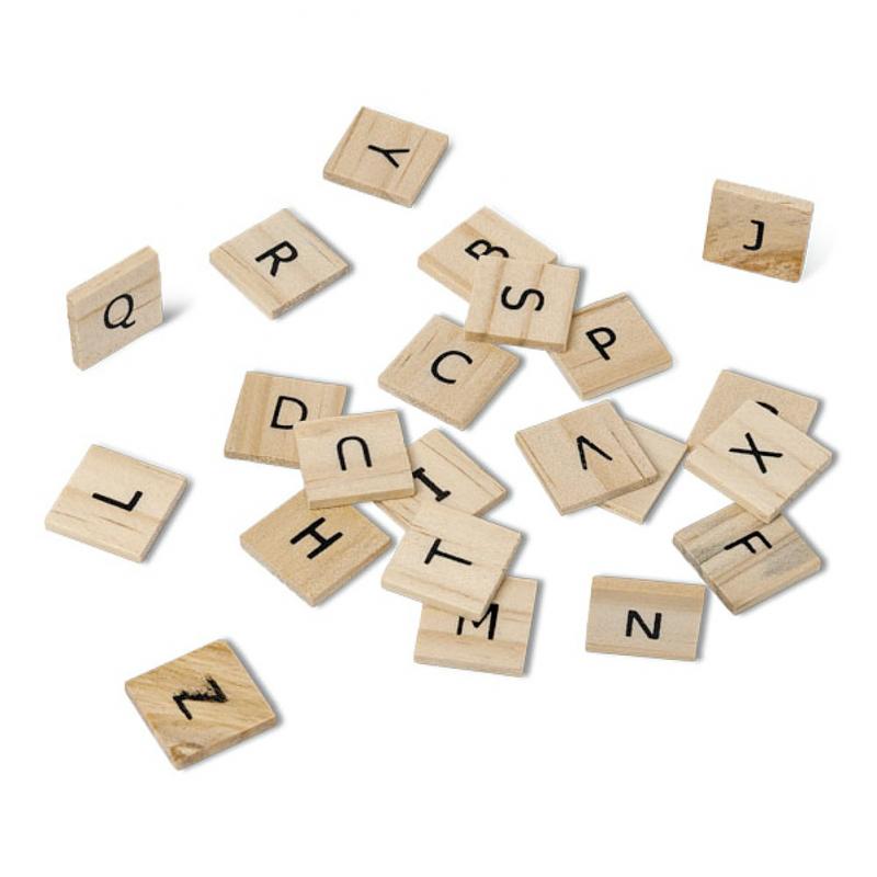 Lettres bois style scrabble - Lettre scrabble bois ...