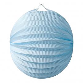 Lampion boule bleu