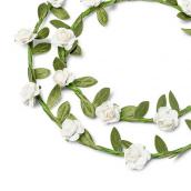 Couronnes de fleurs blanches duo