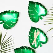 Assiettes feuille palmier