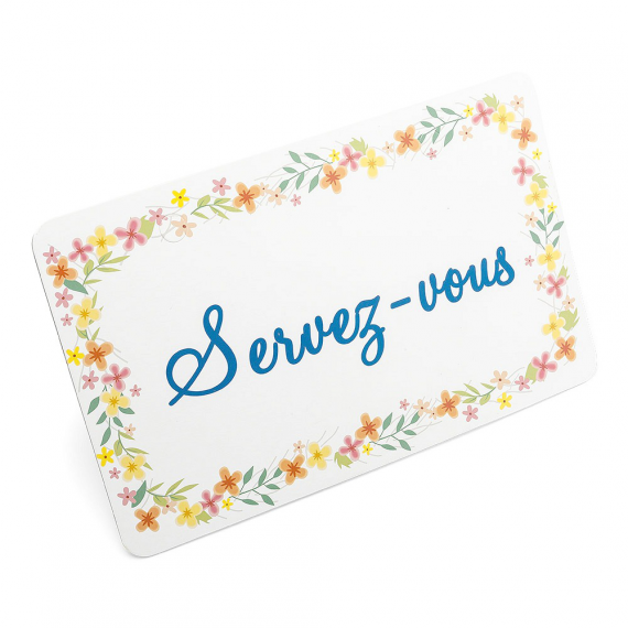"""Pancarte à poser """"Servez vous"""" fleurs bucoliques"""