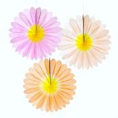 Eventails papier fleurs