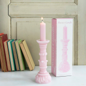 Bougie tout cire baroque rose
