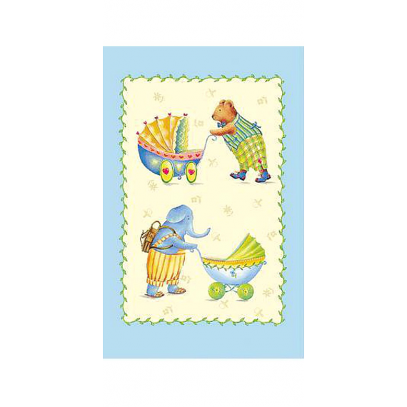 Carte décor bébé bleu
