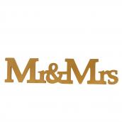 Lettres Mr & Mrs dorées so chic