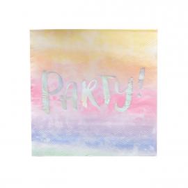Serviettes papier party pastel