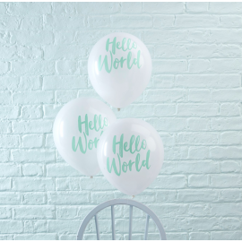 Ballons baby shower Hello world