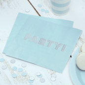 Serviettes papier party bleu