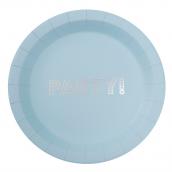 Assiettes party bleu