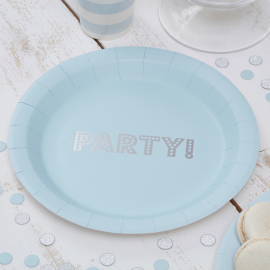 Assiettes party bleu
