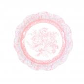 Assiettes gâteaux mix floral rose