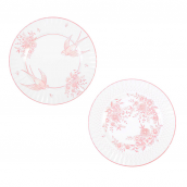 Grandes assiettes mix rose romance