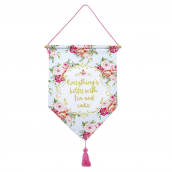 Bannière fleurs vintage tea party