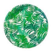 Assiettes green tropiques