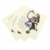 Serviettes gravures so Alice