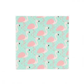 Serviettes papier star flamant rose