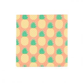Serviettes ananas tropique