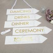 Pancartes mariage marbré