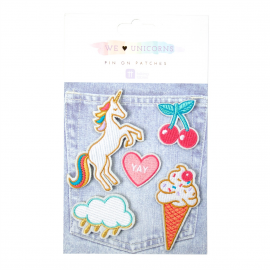Broches broderies licorne