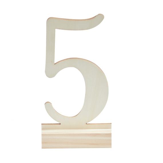 Numéros de table bois