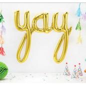 Ballon mylar Yay or