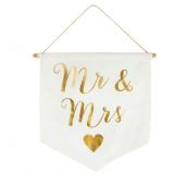 Bannière Mr & Mrs or