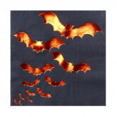Serviettes halloween chauve souris
