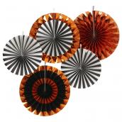 Rosaces mix orange, noir et blanc