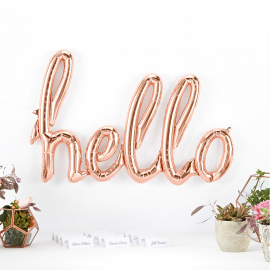 Ballon mylar Hello or rose