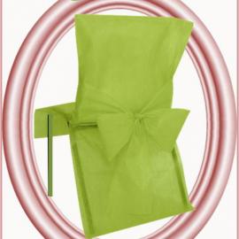 Housses de chaises vert anis - Lot de 10