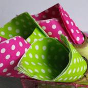Serviettes pois rose fuschia - 20 serviettes.