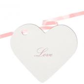 Marque-place coeur blanc - sachet de 10