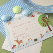 Cartes invitations Bambi Land