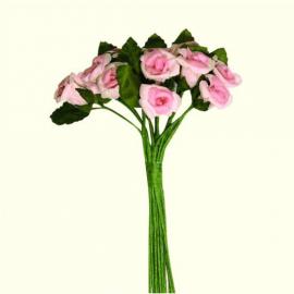 12 petites roses - sachet de 6 bouquets