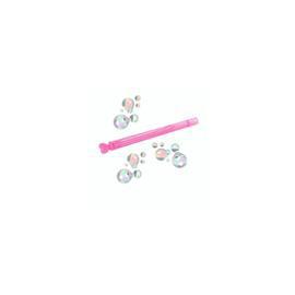 Bulles de savon baguette coeur rose - Lot de 6