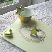 Etoiles dorées sur tige - Sachet de 2