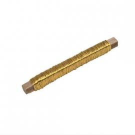 Bobine fil de fer or - 20 mètres