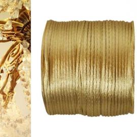 cordelette satin dorée - Bobine de 25 mètres.