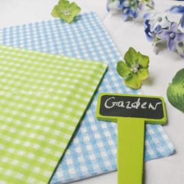 Serviettes papier vichy vert - 20 serviettes