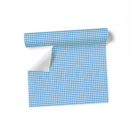 Chemin de table, set de table vichy bleu - Rouleau 3m 60