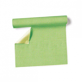 Chemin de table, set de table vichy vert - Rouleau 3m 60