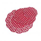 Assortiment napperons rouges pois blancs - 72 pièces
