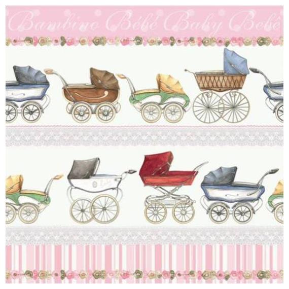 Serviettes papier Carosse Baby girl