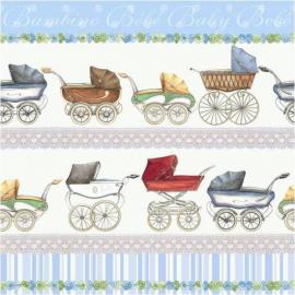Serviettes papier Carosse baby boy - Lot de 20