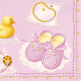 Serviettes papier Baby chic girl