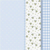 Serviettes papier bleu patch liberty - Lot de 20