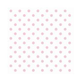 Serviette papier blanche pois roses - Lot de 20